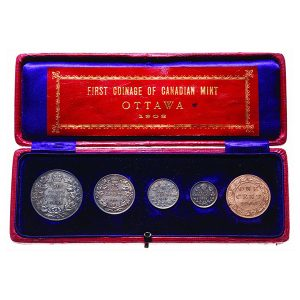 1908 Royal Canadian Mint First Coinage Set